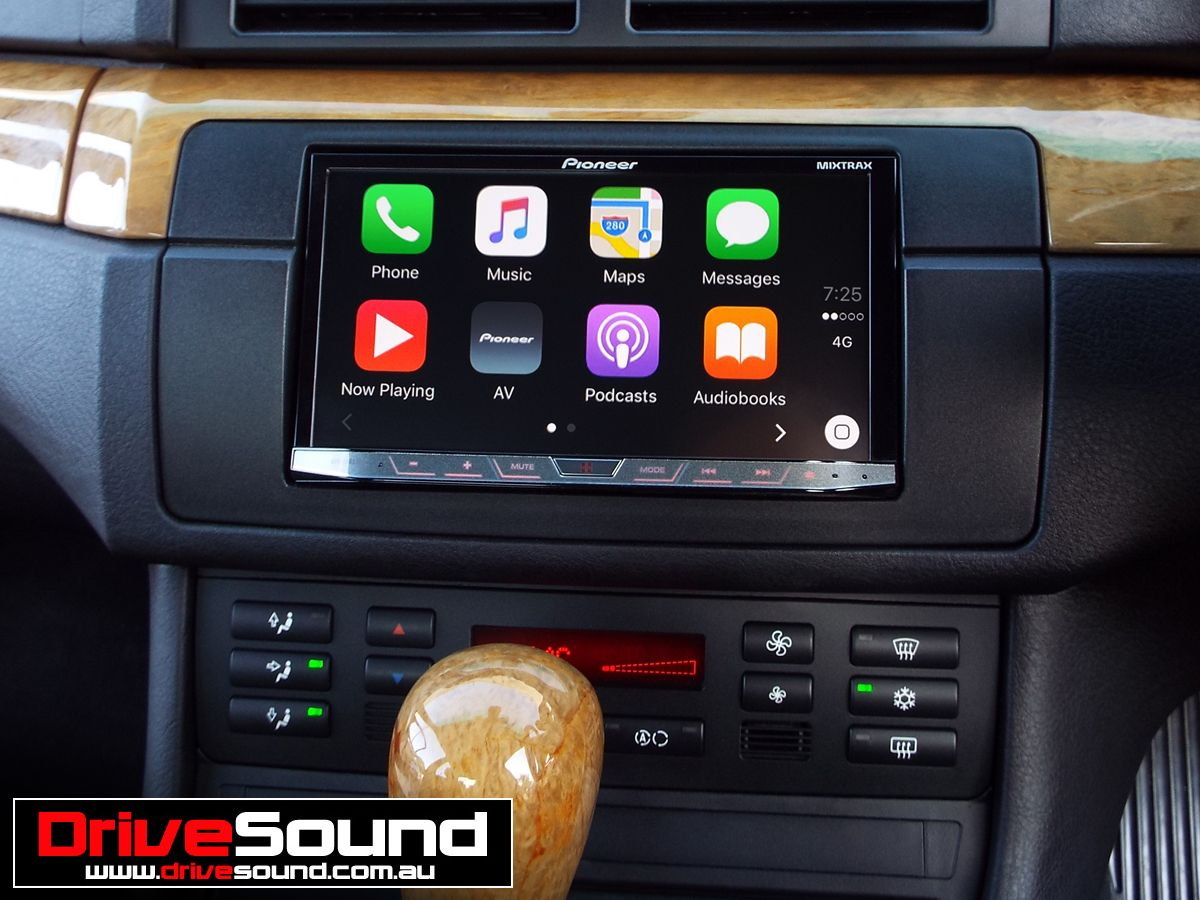 bmw e46 3 series with apple carplay installed by. Black Bedroom Furniture Sets. Home Design Ideas