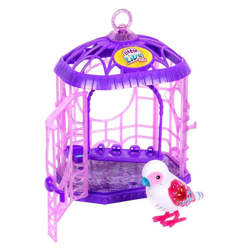 Little Live Pets Tweet Talking Bird With Cage Bessie Bestie