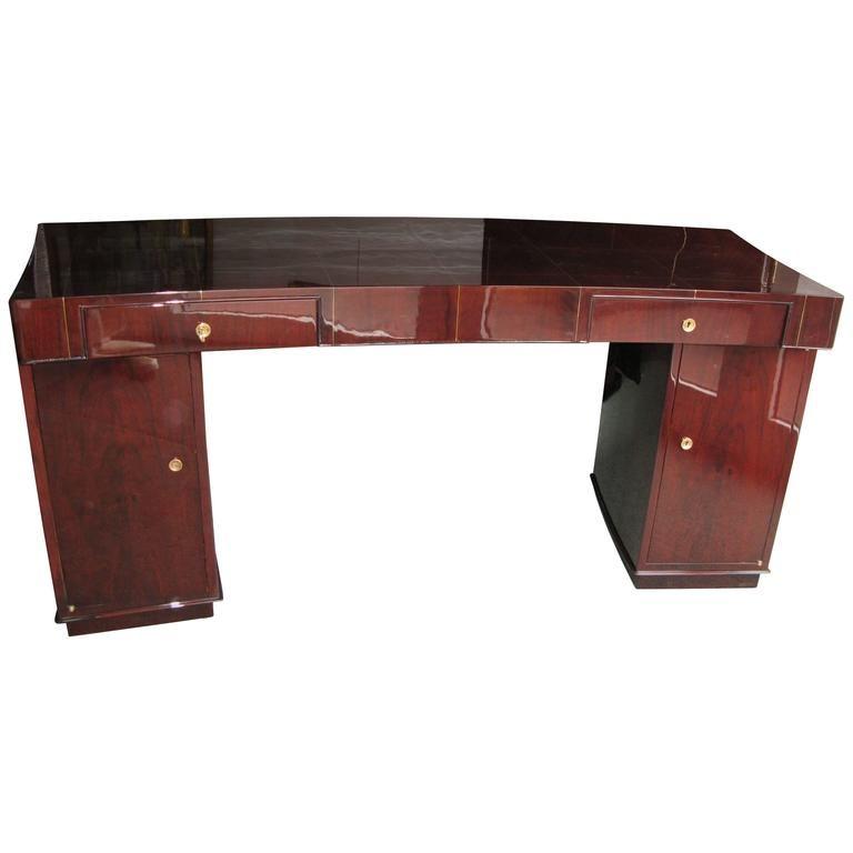Art Deco Desk By Dominique In Rio Rosewood From A Unique