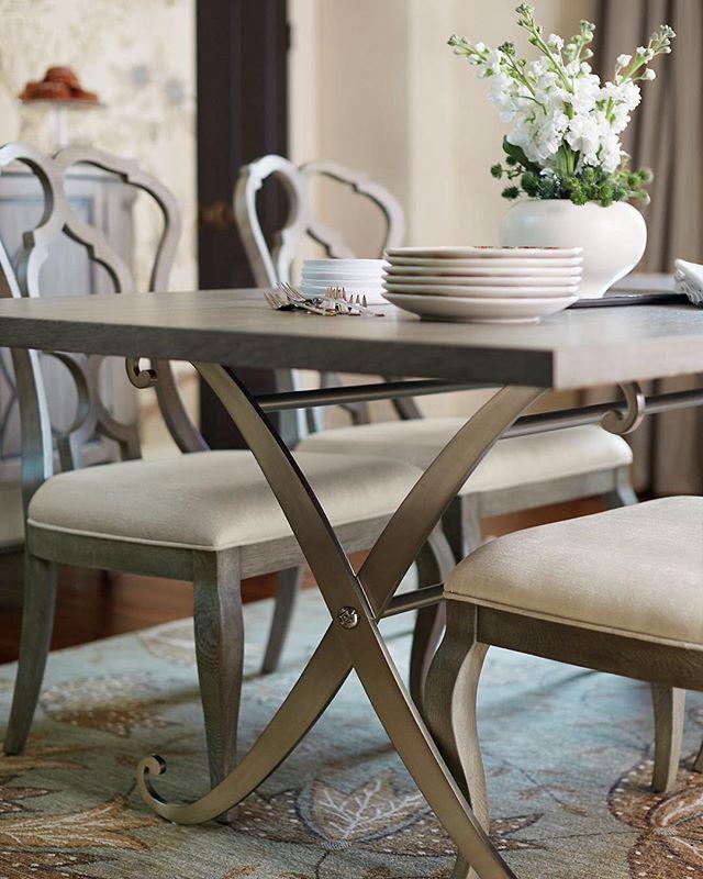Bernhardt Marquesa Rectangular Dining Room Set in