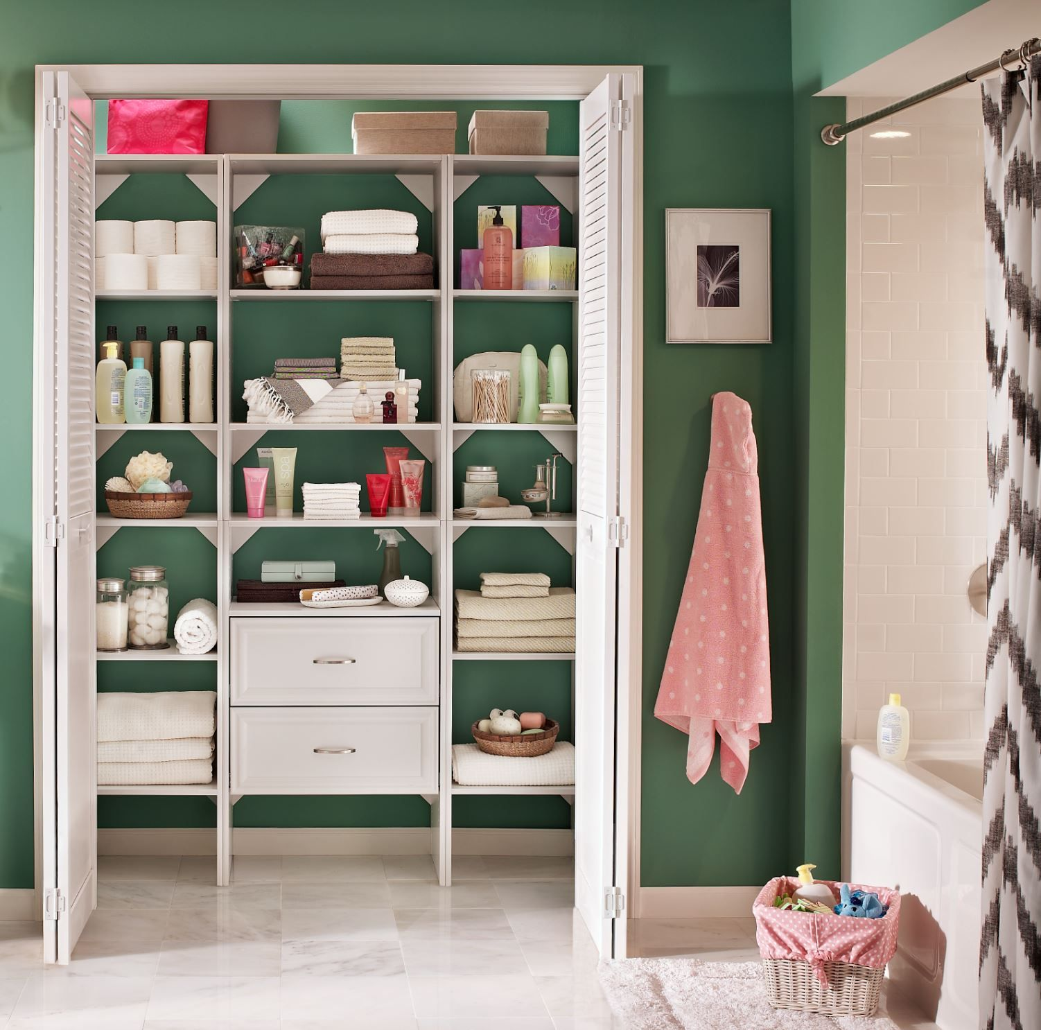 Need Your Linen Closet To Work Harder For You Add A Selectives Organizer From Homedepot Linen Closet Design Linen Closet Storage Custom Closet Organization