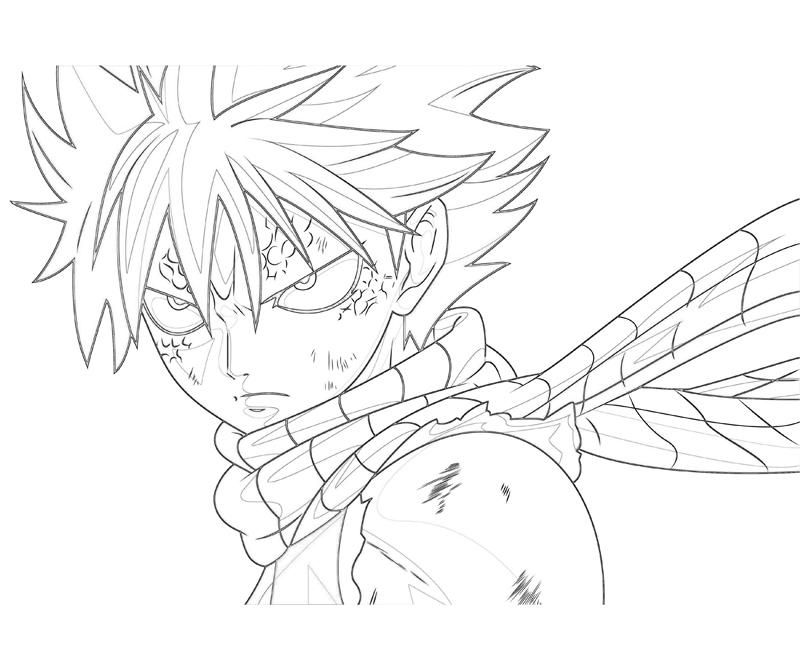 Fairy Tail Natsu Coloring Pages | angel | Pinterest