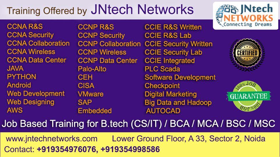 Join the JNtech Networks for jobbased training in Noida