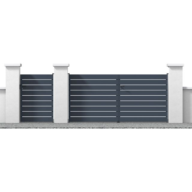 Portail En Aluminium Samson Gris Castorama Portillon Aluminium Portail Aluminium Portail