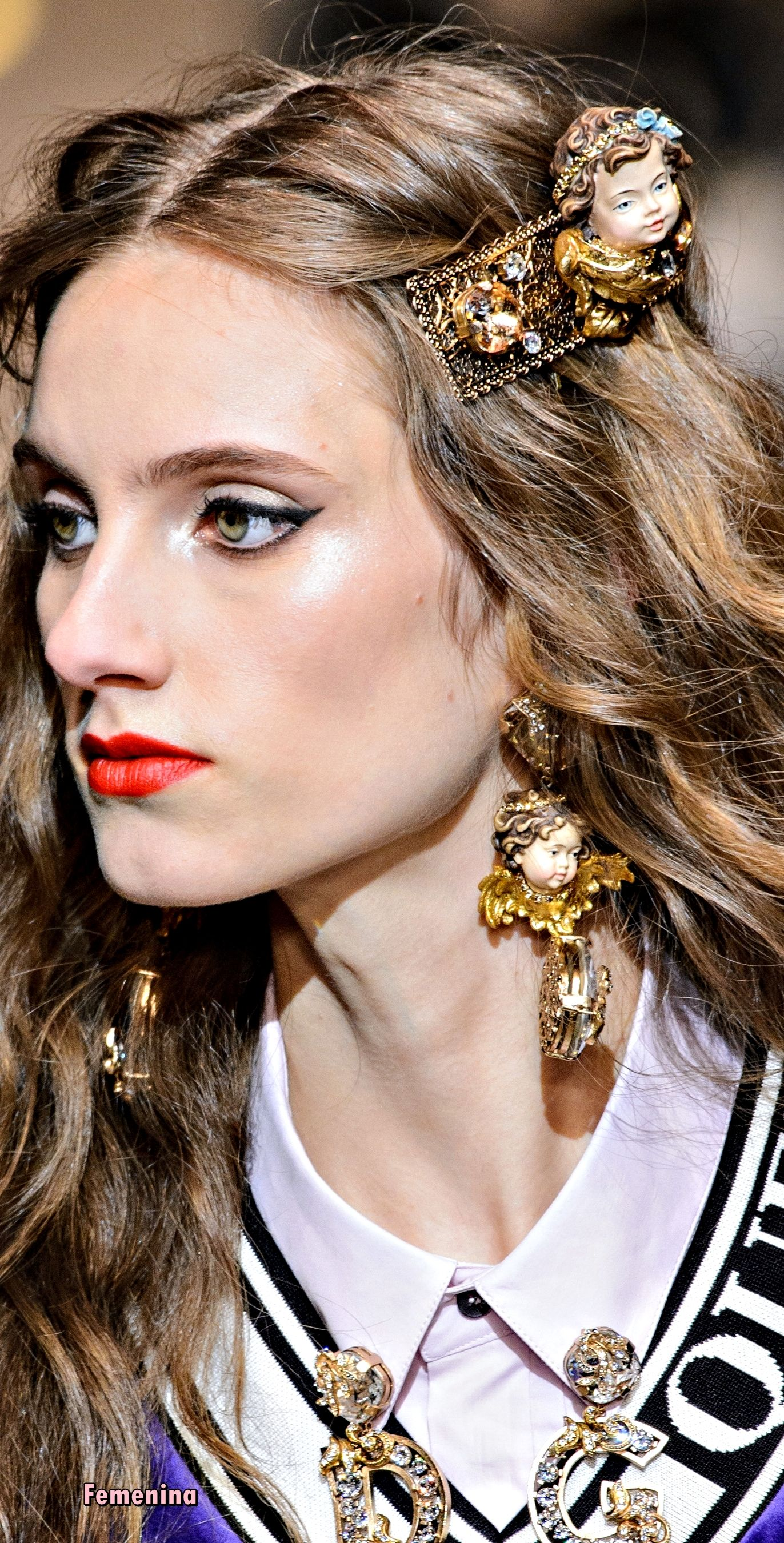 Dolce Gabbana Fall Winter 2018 Dolcegabbana Details Hair Clips Hair Accesories Hair Jewelry