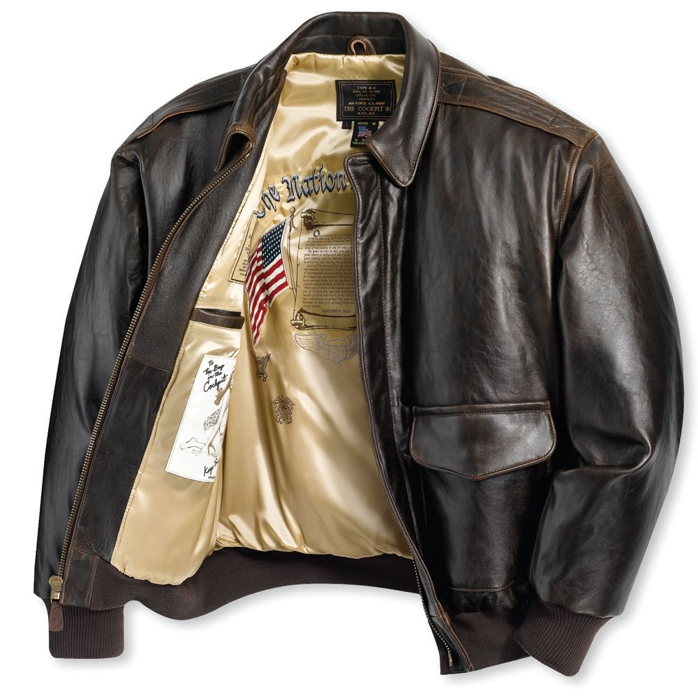 The Army Air Corps Leather Flight Jacket - Hammacher Schlemmer ...