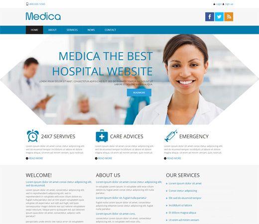 Medica Free Responsive Html5 Css3 Mobileweb Template Medical