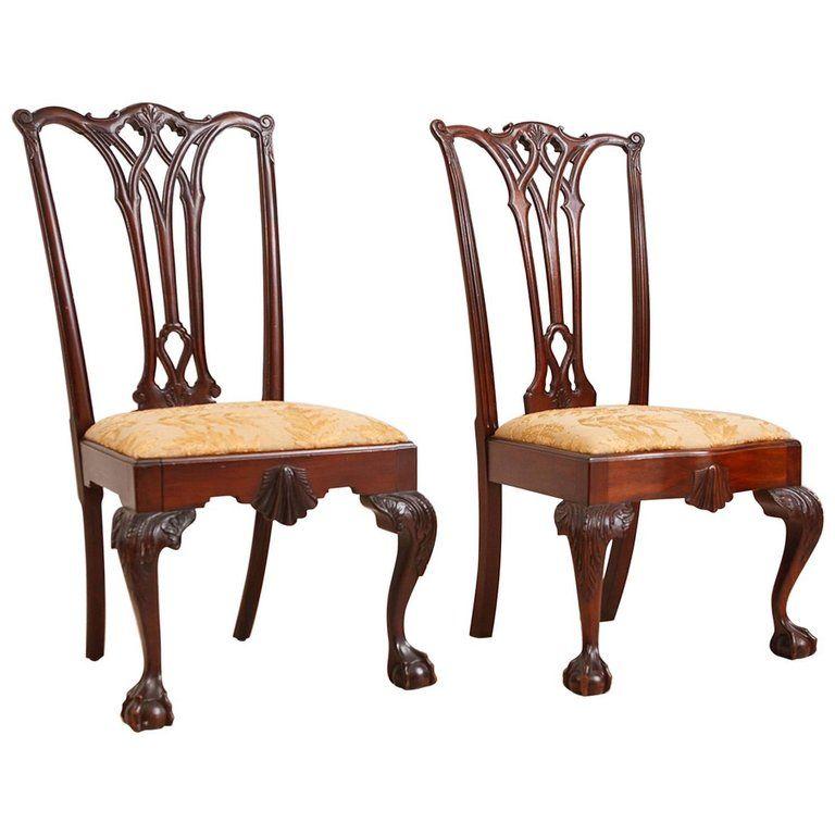 Pair Of 1stdibs Dining Room Chairs Centennial Philadelphia