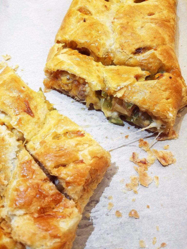 Philly Cheesesteak Puff Pastry