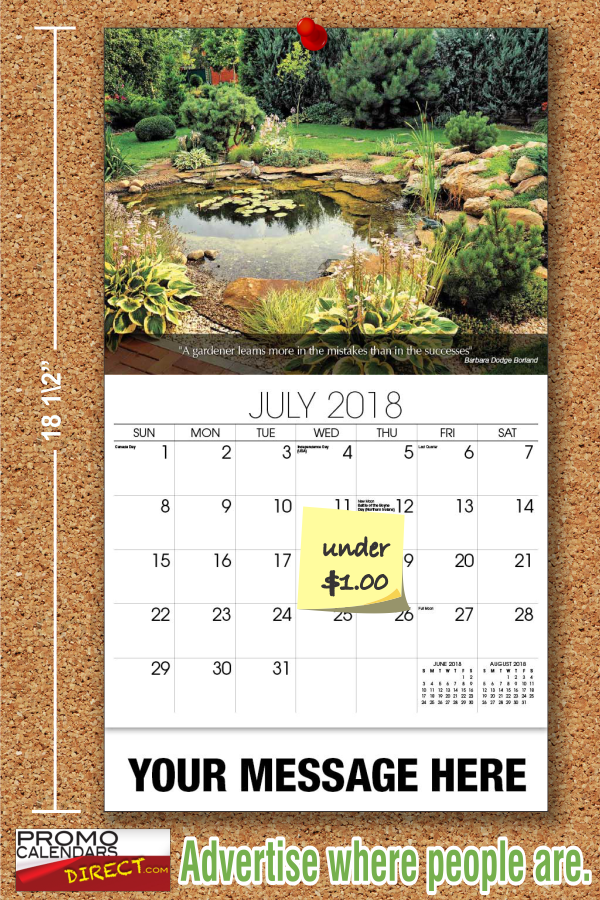 Flowers & Gardens (With images) Promo calendars