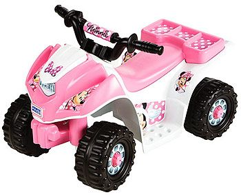Power Wheels Fisher Price 6 Volt Lil Quad Ride Minnie Mouse from 4 Wheeler  Ride Toys Fisher Price family - Best Kids Ride on Toys