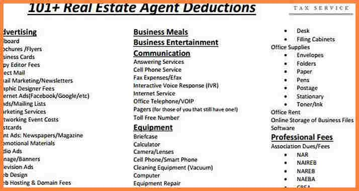 Real Estate Agent Expenses Spreadsheet Deduction Cheatsheet Cover Therefore