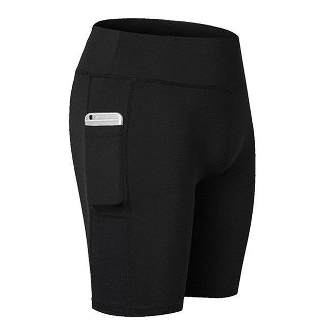 Women'S Tight Five-Pants Pocket Fitness Stretch Yoga Pants 2019 Women'S Yoga Pants With Side Pockets...