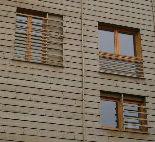 Timber cladding, Praubert Apartments, by Jo Townshend Architect