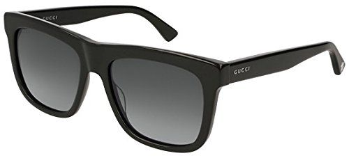 79efb26fb9 Gucci GG0158S 001 Black GG0158S Square Sunglasses Lens Category 3 Size 54mm