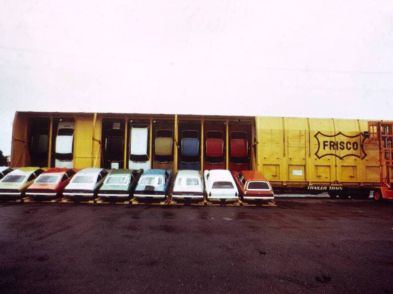 Vertical storage - Shipping Chevy Vegas by train