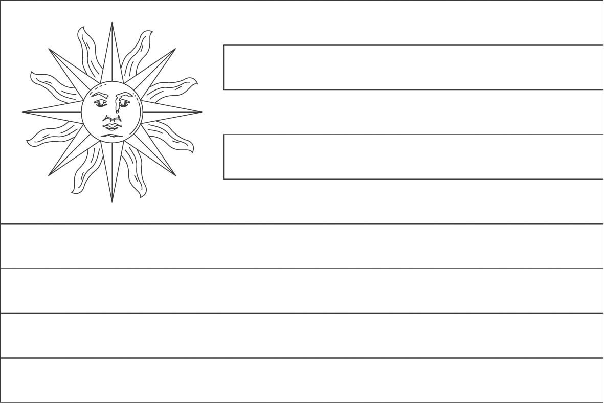 Uruguay Flag Coloring Page Sonlight Core C Window On The World