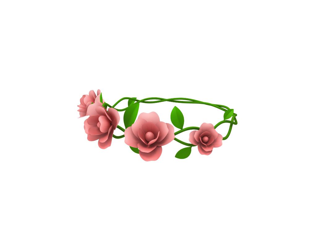 Floral Crown Model Turbosquid 1435624 Floral Crown Floral Cartoon Styles