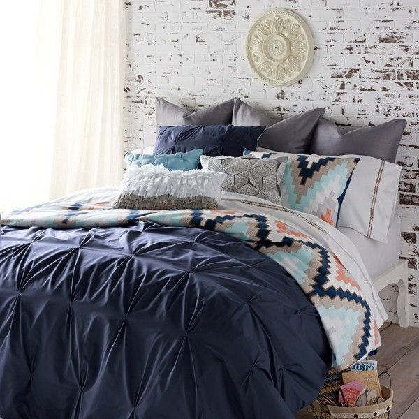 Navy And Coral Bedding Part - 32: Navy Blue Bedding Queen Size
