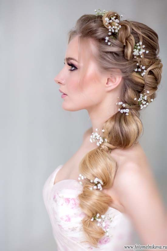 Amazing braided wedding hairstyle
