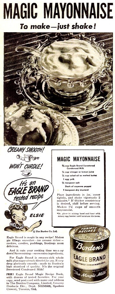 Soft Water Vintage Recipes Eagle Brand Recipes Homemade Mayonnaise