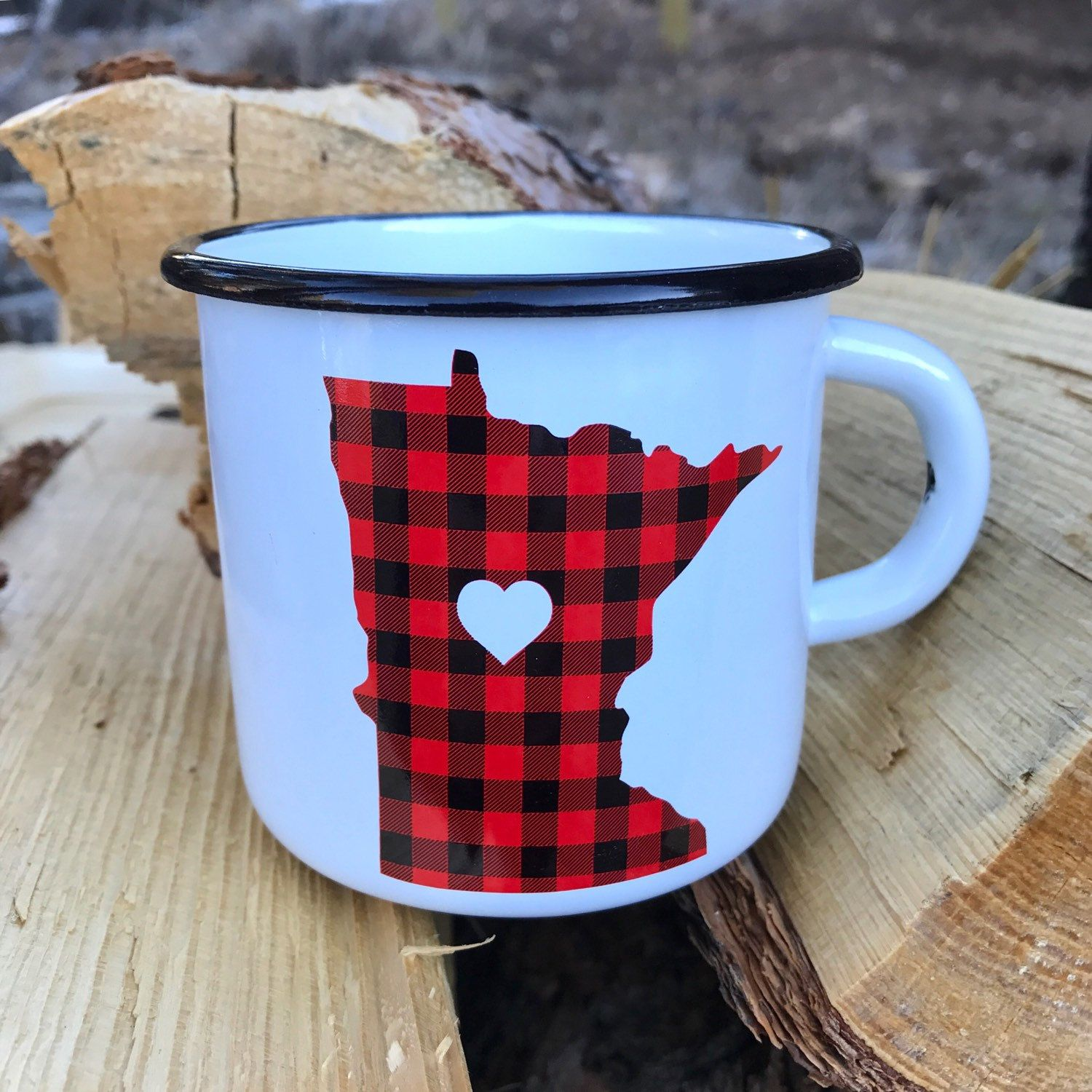 New Minnesota red flannel camping mugs are now listed in