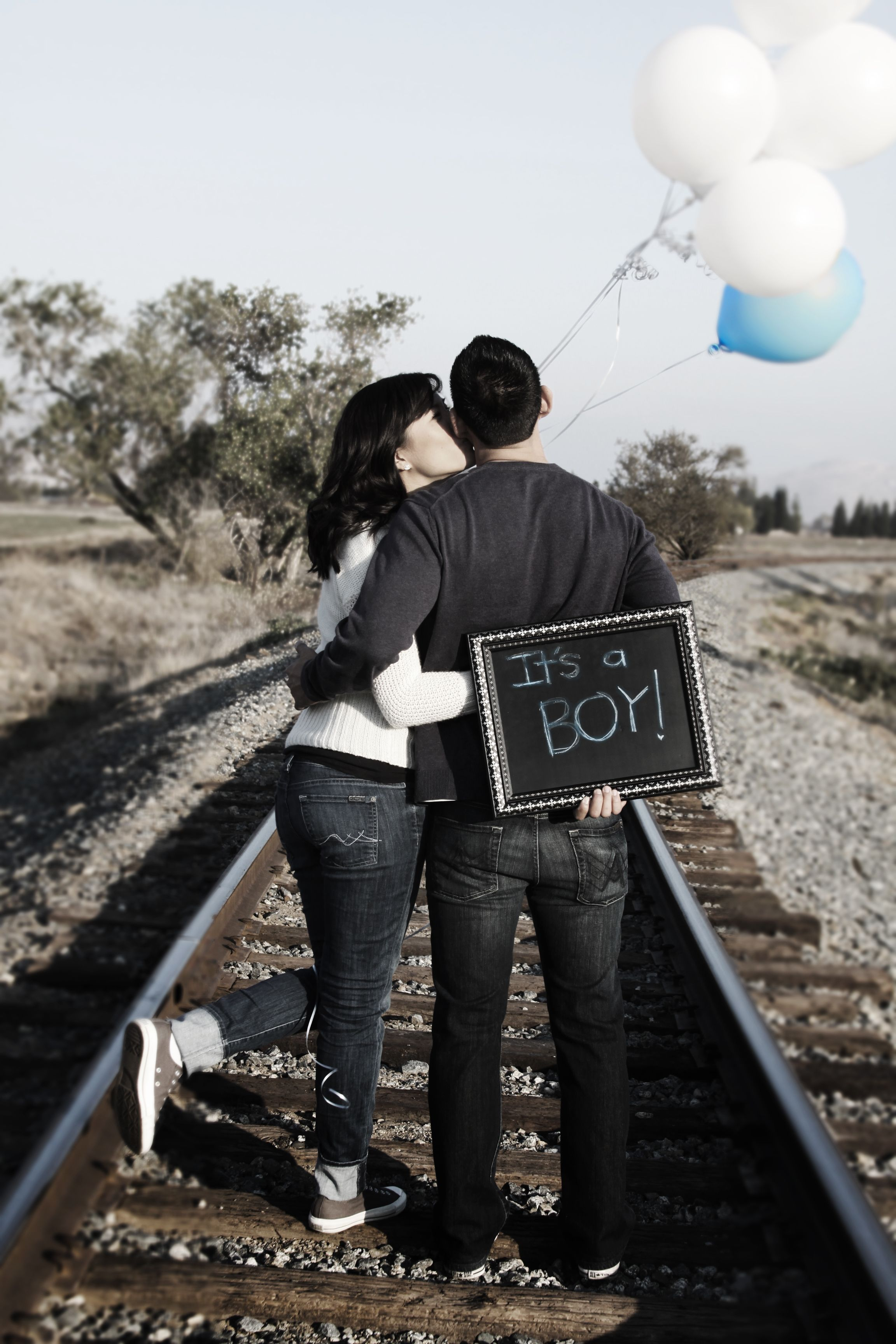 Our photo baby gender announcement :)