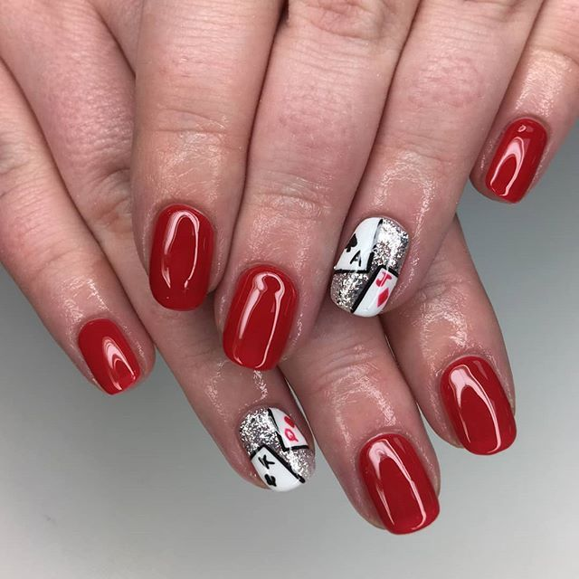 Playing With Fire How Insane Is This Deck Of Cards Nail Art Set By