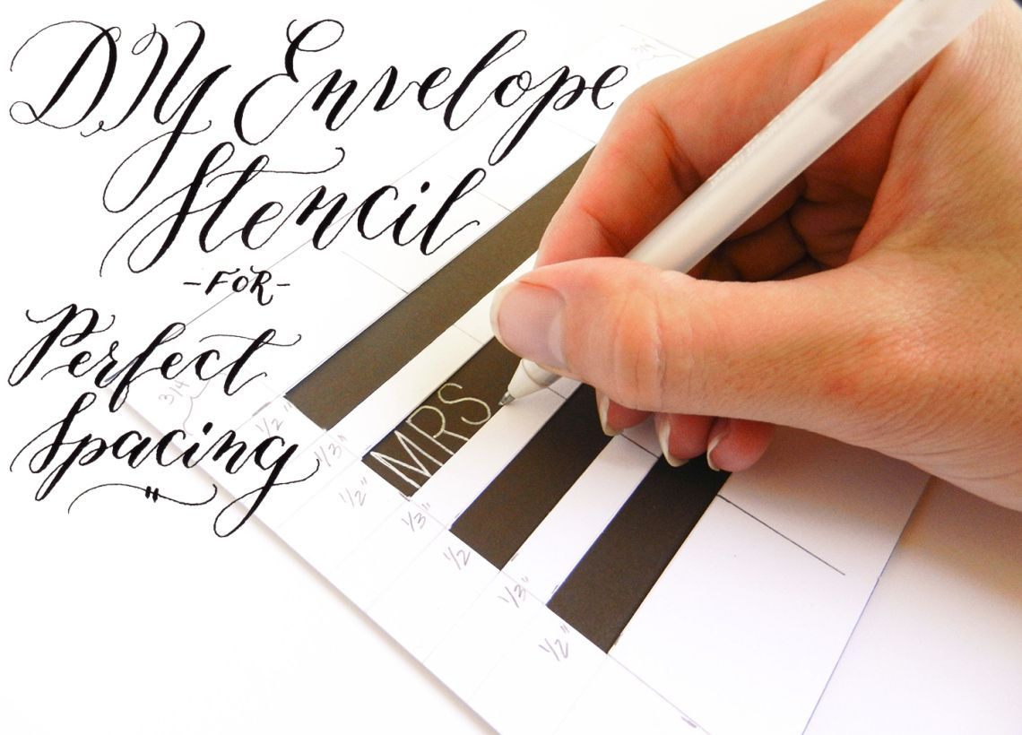 Diy Envelope Stencil For Perfect Spacing  Diy Envelope Envelopes