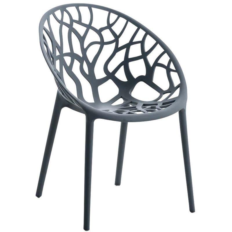 Chaise D Interieur Ou D Exterieur En Plastique Gris Empilable Mdj10207 In 2020 Chair Dining Room Chairs Furniture