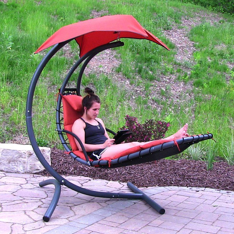 Outdoor Sunnydaze Floating Chaise Lounge Hanging Swing