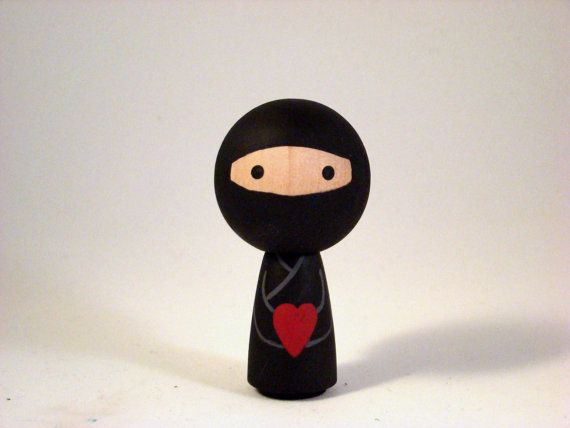 Ninja Love ... the Original Mini Kokeshi Ninja