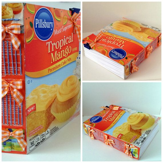 Recycled Pillsbury Tropical Mango Cake Mix By