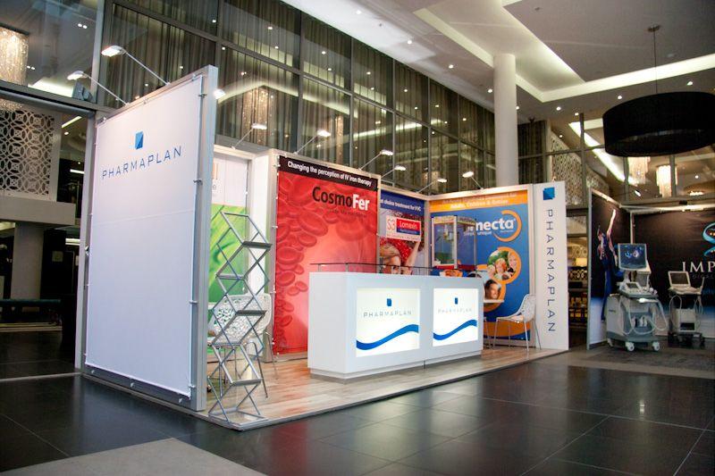 Exhibition Booth Printing : Pharmaplan at sasog full modular octanorm design