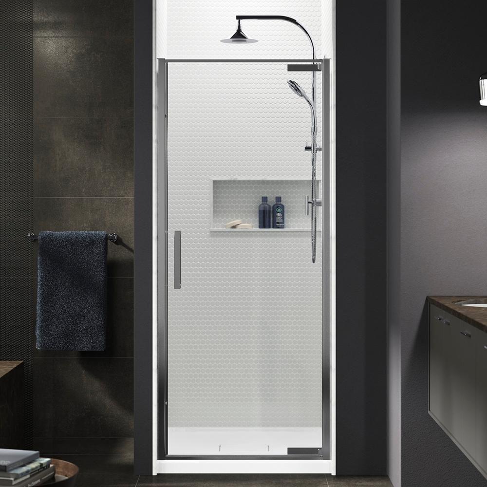 Kohler Torsion 36 In W X 76 75 In H Frameless Pivot Shower Door