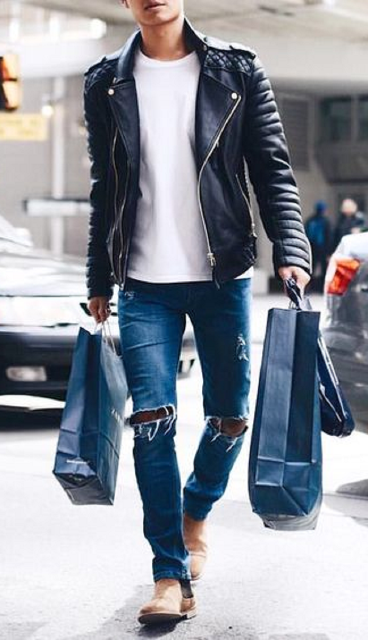 de70a84e806 20 Stylish Ripped Jeans Spring Outfits For Men | Furly board ...