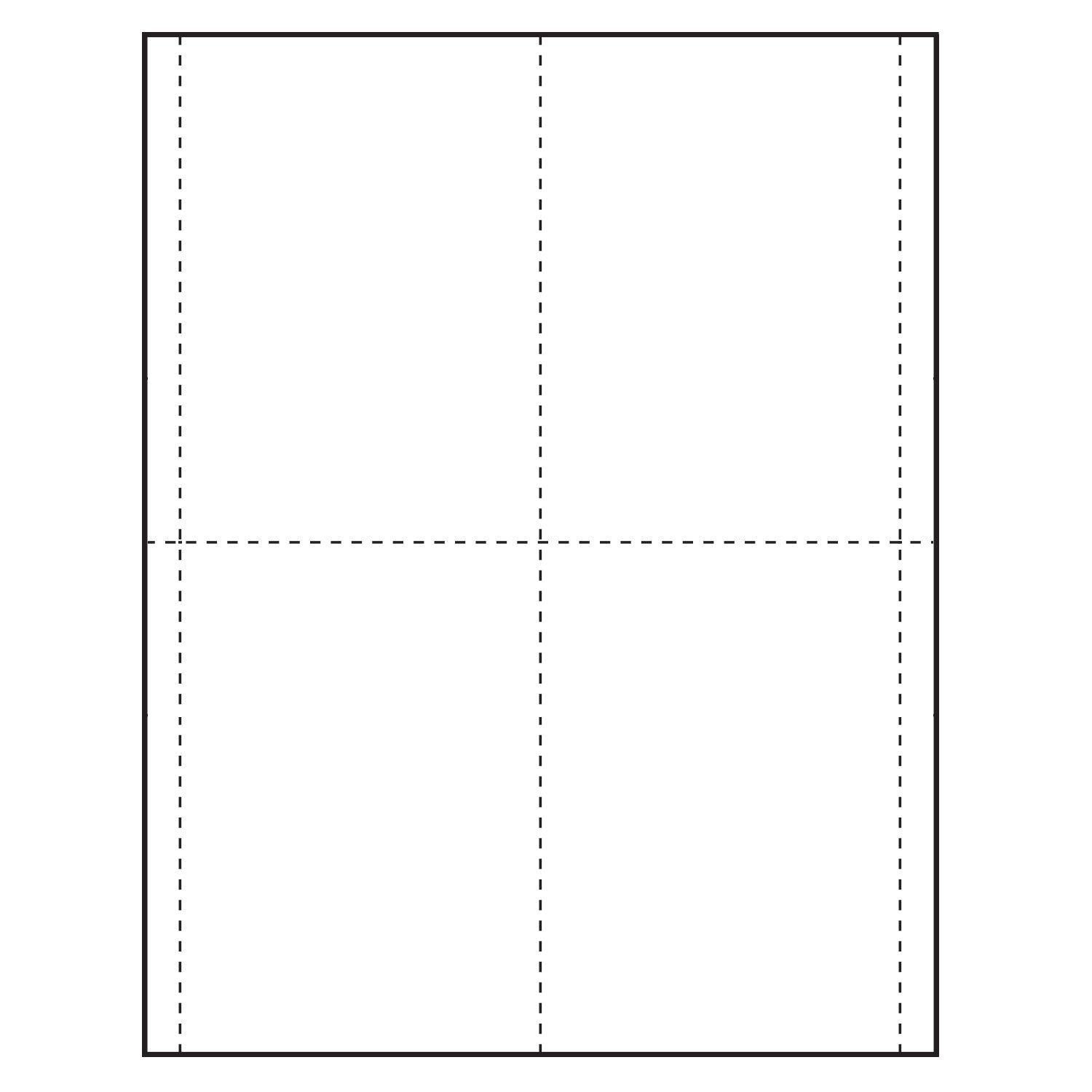 3 5 8 X 5 1 2 Vertical Paper Name Tag Insert Blank Pack Of 500 Inserts Card Template Name Tags Templates