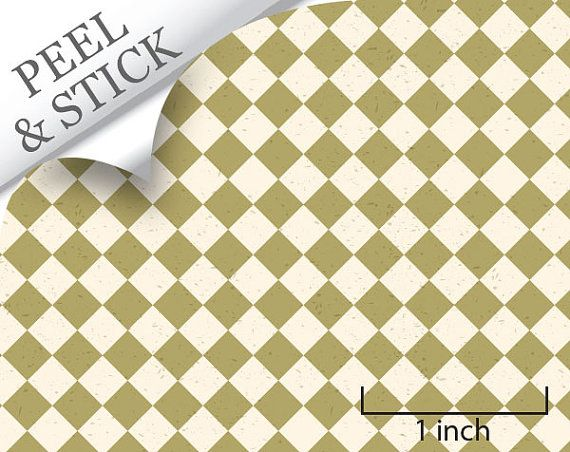 Quarter Scale Wallpaper Peel And Stick Green By True2scale On Etsy Green Diamond Wallpaper Stick