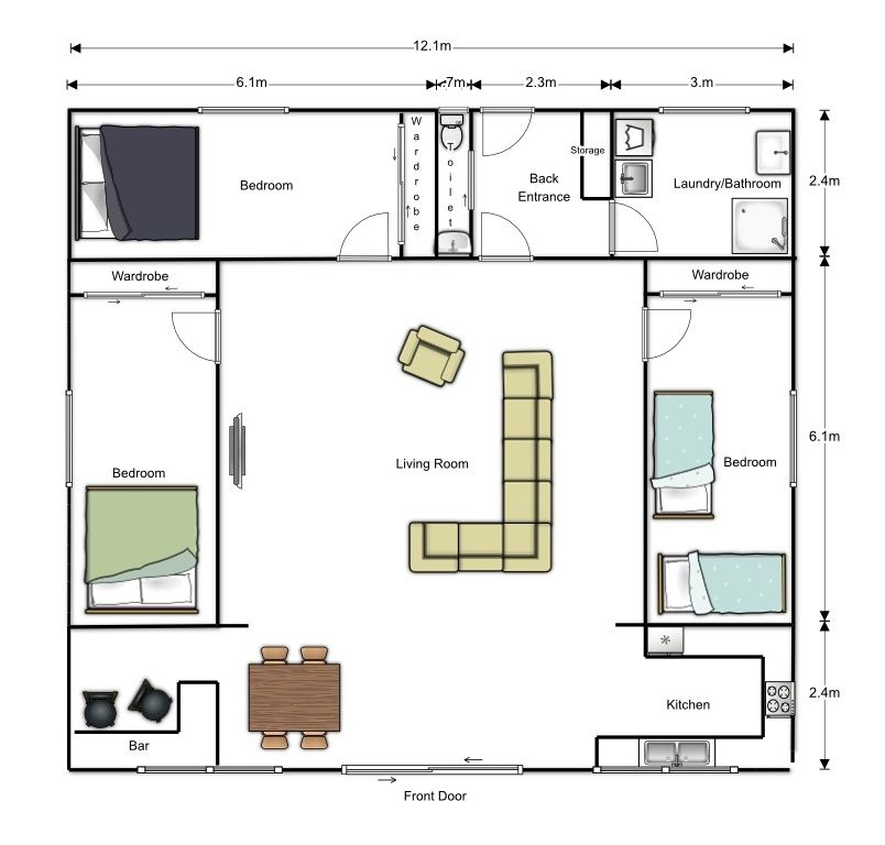 Shipping Container Home Floor Plans Background