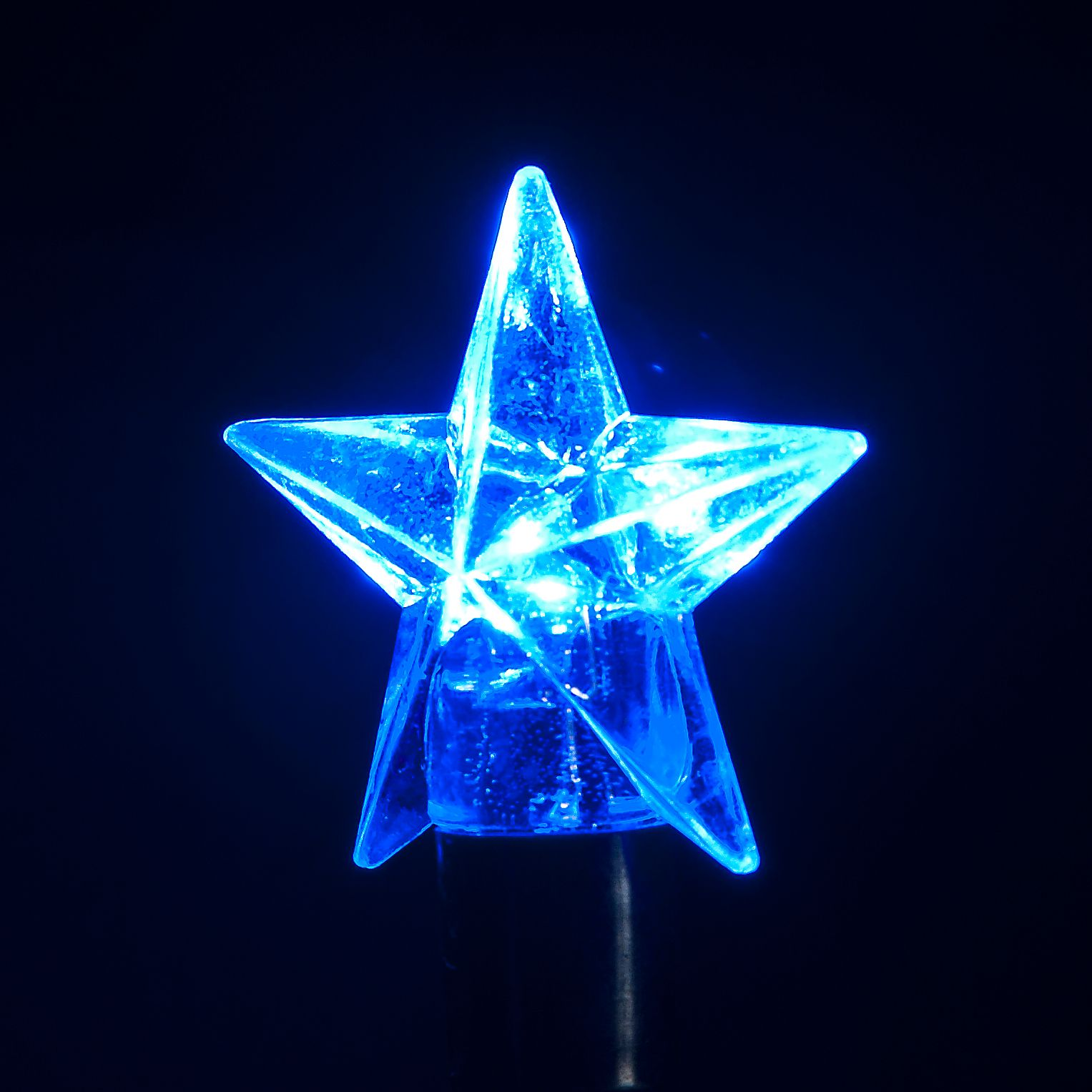 100 Connectable LED Star Lights (Blue) ukchristmasworld