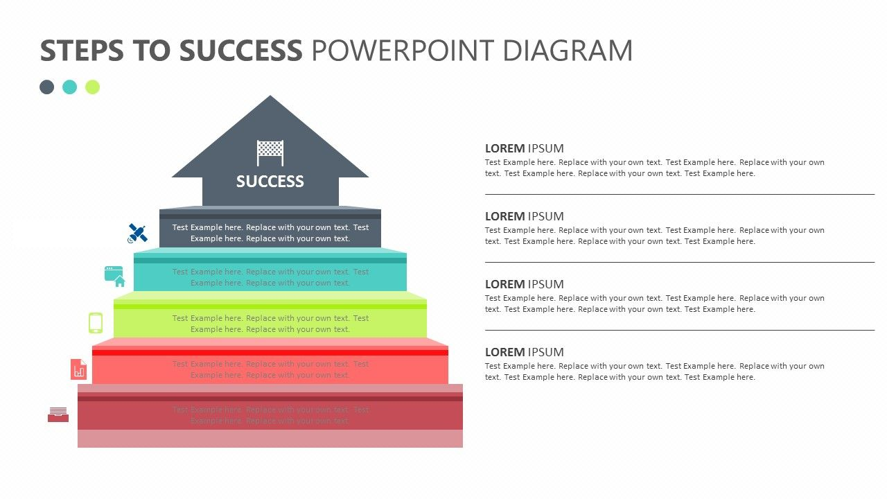 Steps To Success Powerpoint Diagram Related Powerpoint Templates