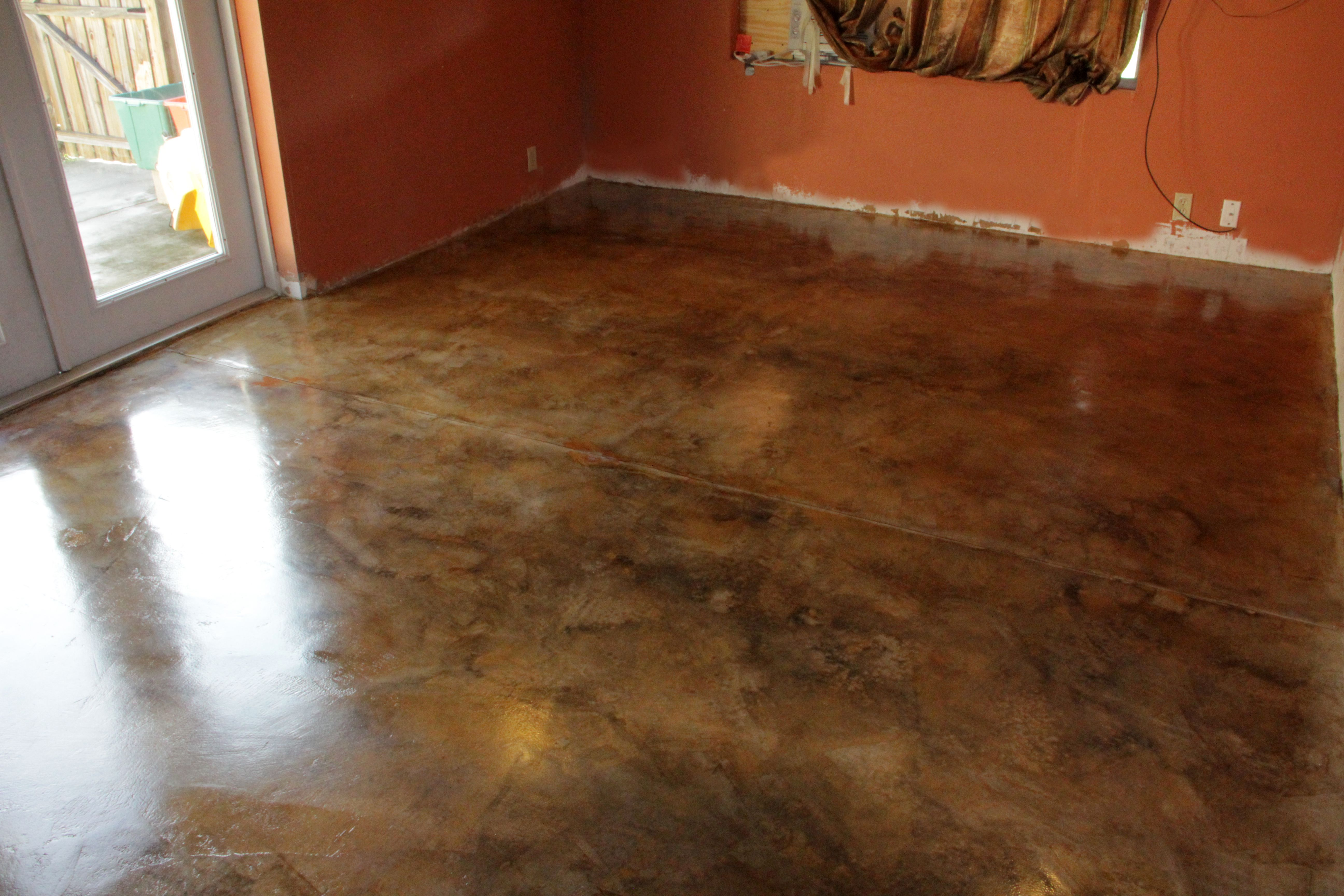 Unique Stained Concrete Floors Cost Diy (With images