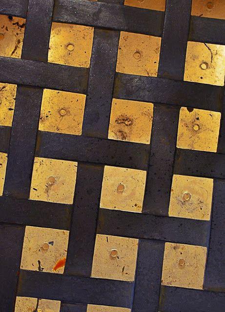 ARTEVISUAL VisualArte ALpuntoDvista : Textura enmarcada en hierro.
