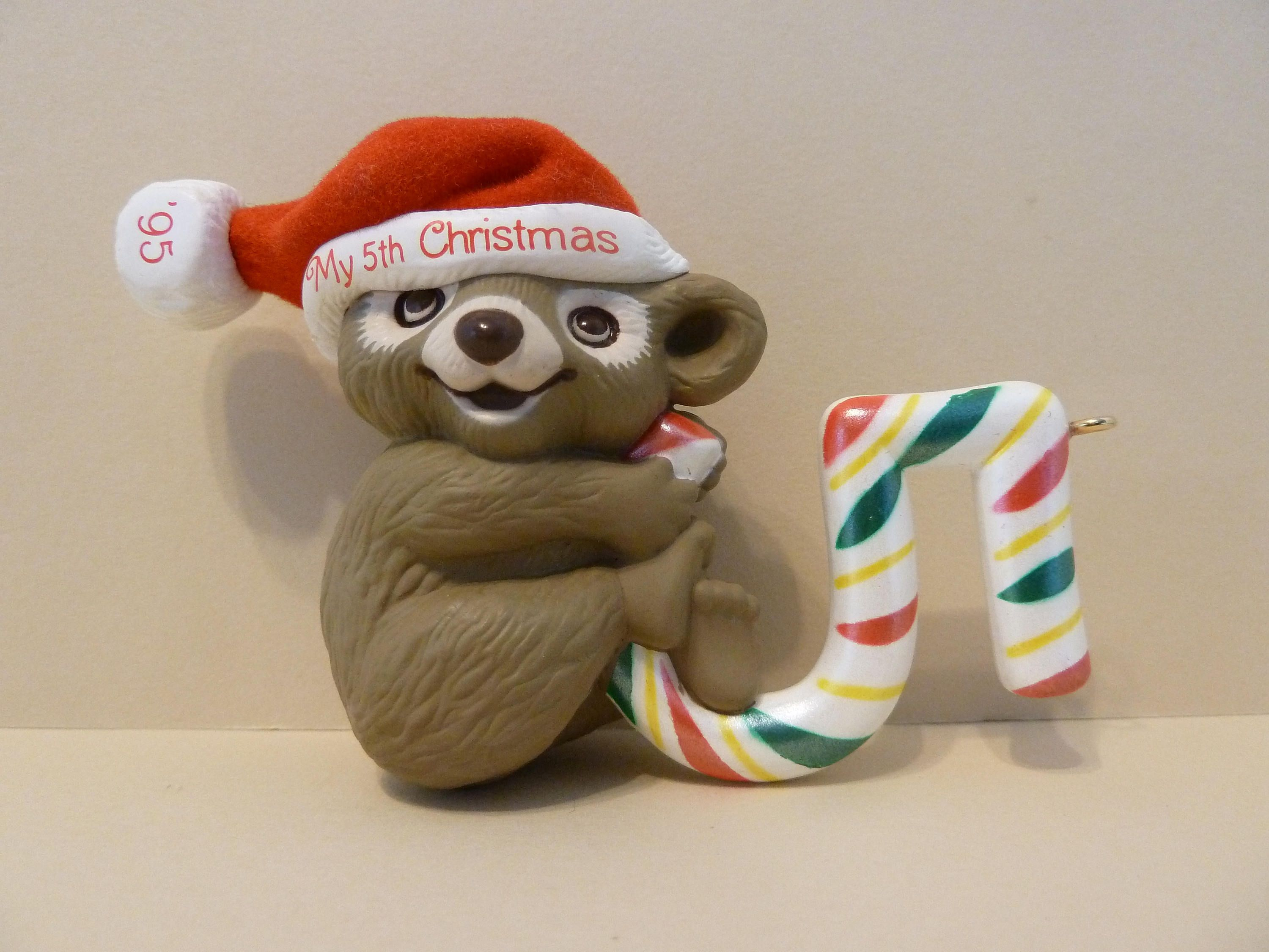 Hallmark, Christmas Ornament, Koala Bear w / Candy Cane