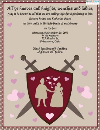 Sample invitation for medieval wedding or bridal shower WEDDING - best of formal invitation salutations