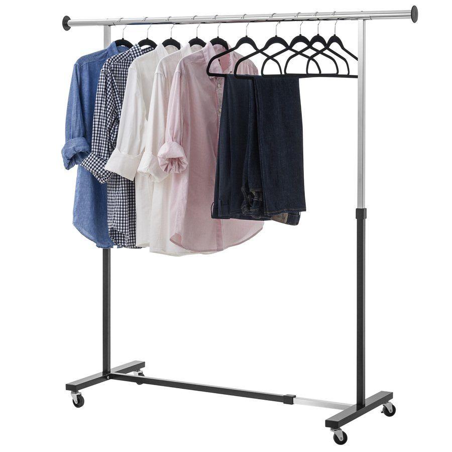 Style Selections Mp Bd00323 Chrome Black Steel Garment Rack