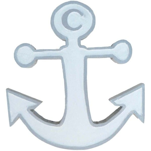 Cultivating Creativity White Intial Anchor Personalized Wall Plaque 17 Liked On Polyvore Featuring