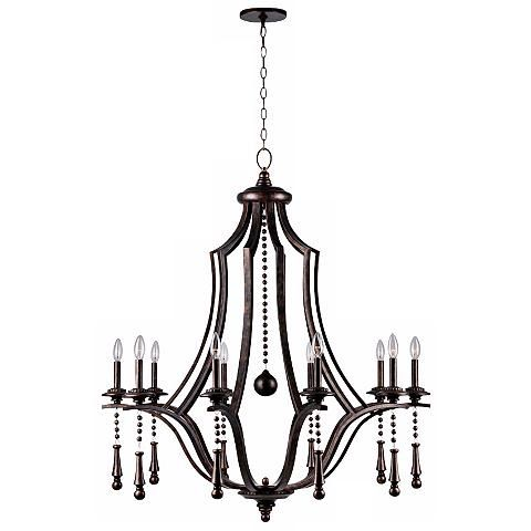 Crystorama parson 40 wide english bronze chandelier chandeliers crystorama parson 40 wide english bronze chandelier chandeliers english and transitional style mozeypictures Choice Image