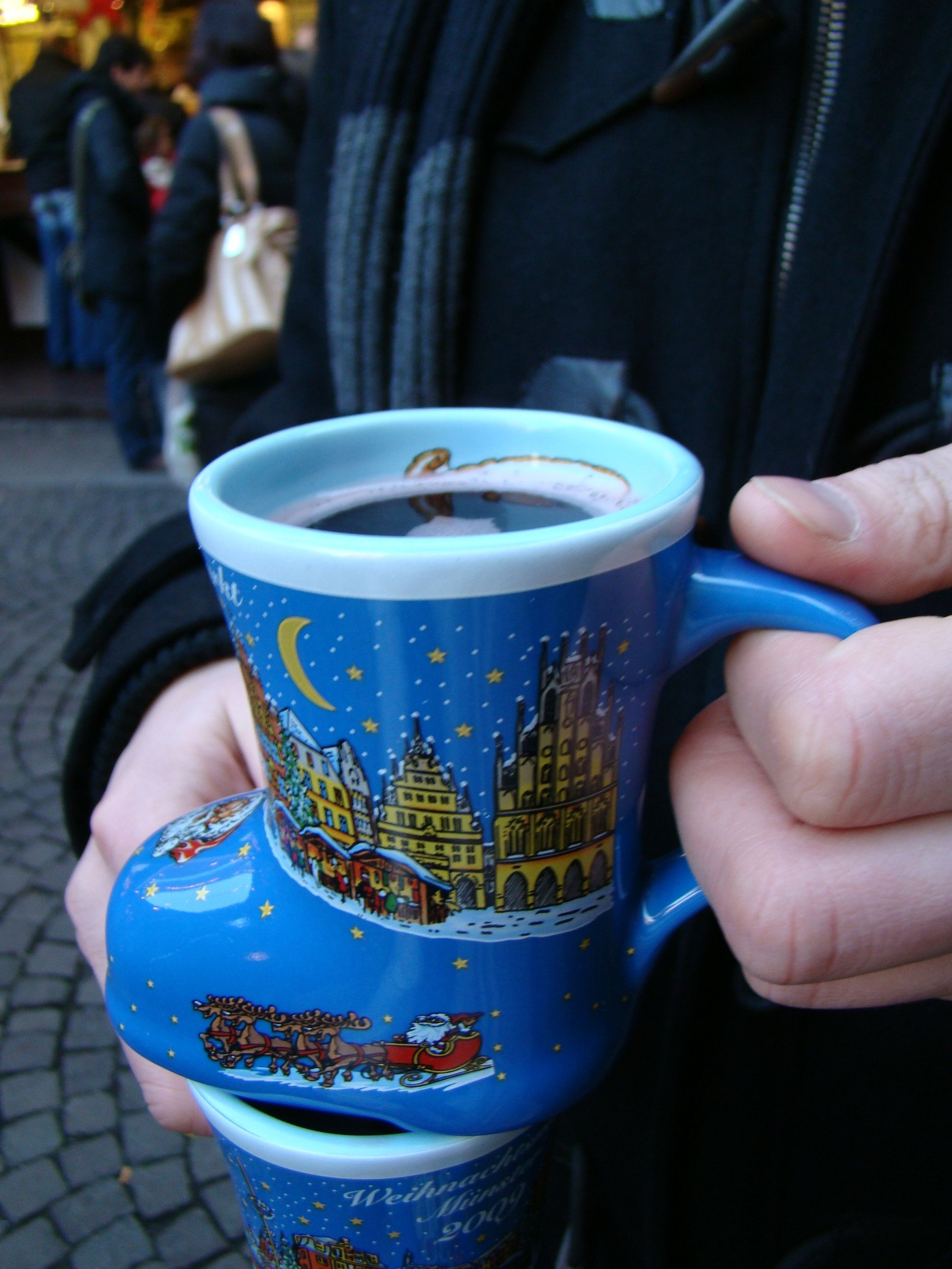 Glühwein (Mulled wine) at a christmas market in Germany