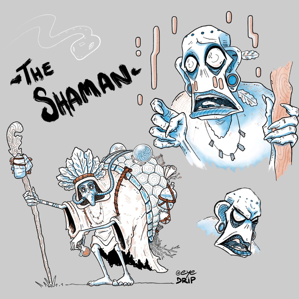 Shaman Character Design + Process Video en 2020